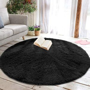 Round Fluffy Soft Area Rugs 4ft A